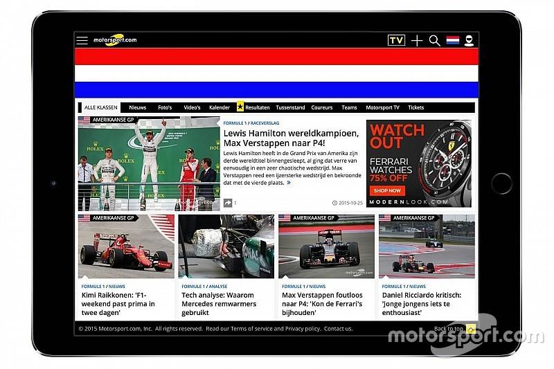 Motorsport.com breidt uit in Europa, kondigt Nederlandse editie aan