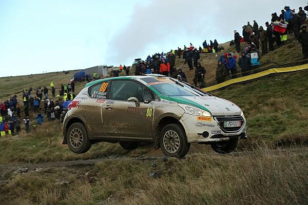 Fabio Andolfi sul podio del WRC3 in Gran Bretagna