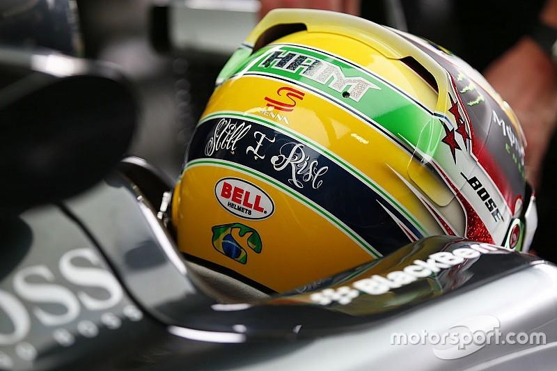 Hamilton recibe pintura de Senna y le agradece a familia