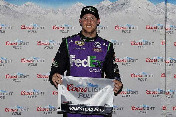 NASCAR Cup Danny Hamlin in pole a Homestad
