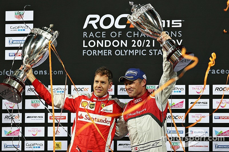 Vettel defeats Kristensen to win 2015 Race of Champions