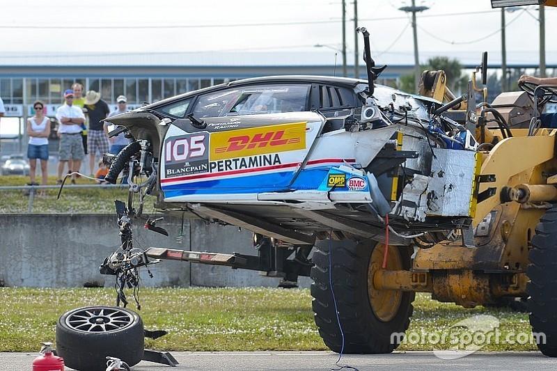 Lamborghini-Fahrer übersteht Horrorcrash in Sebring