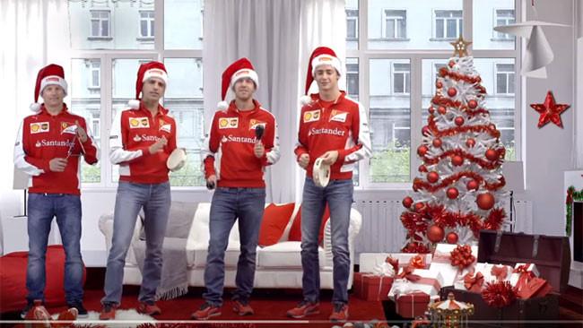 Ecco gli auguri di Natale canori dei piloti Ferrari