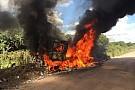 Машина победителей Ралли Марокко сгорела на