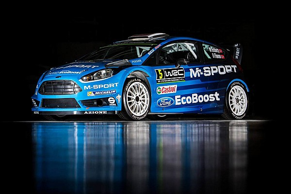 Mit neuen Farben: M-Sport stellt neues WRC-Fahrzeug für 2016 vor