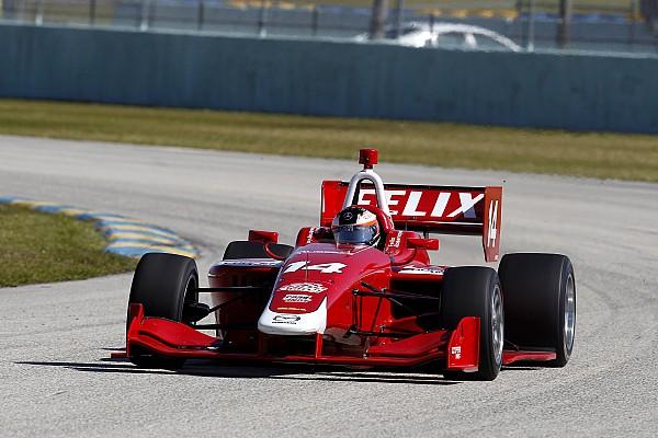 Bestzeit beim Test: Formel-3-Champion Felix Rosenqvist überzeugt bei den Indy Lights