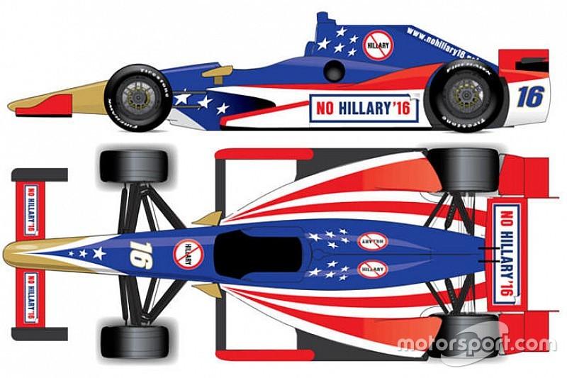 Un grupo anti-Hillary Clinton busca patrocinar un auto en Indy 500
