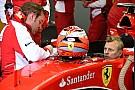 Raikkonen testa assento da nova Ferrari