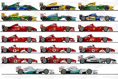 سيارات مايكل شوماخر الـ 20 في الفورمولا واحد