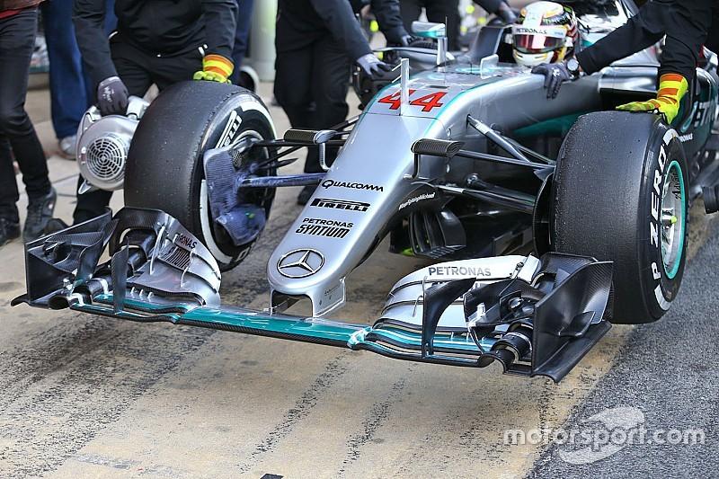 Mercedes quizás no pueda usar su nueva nariz en carrera