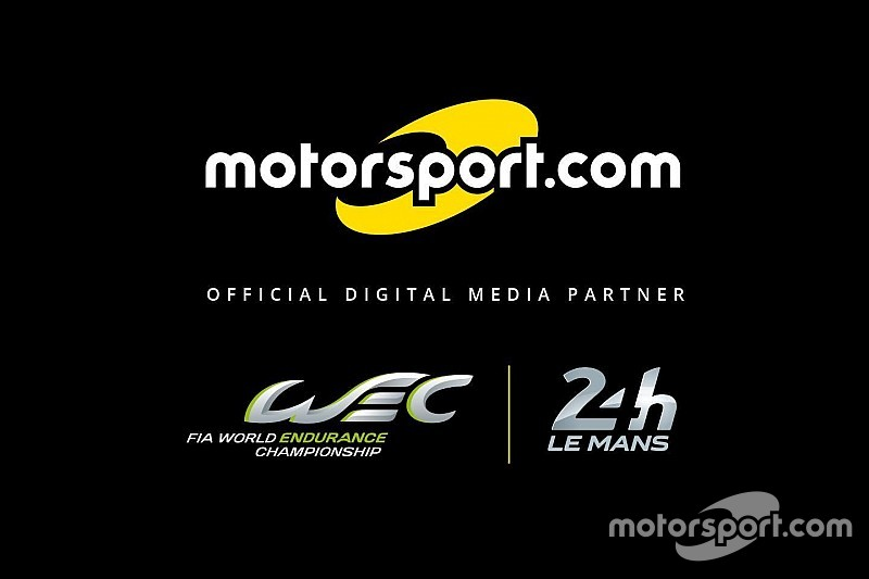 Motorsport.com será parceiro digital oficial do WEC e 24 Horas de Le Mans