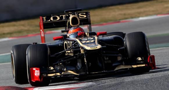 Barselona'da ilk günün lideri Lotus ile Grosjean