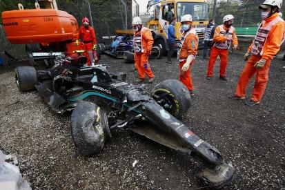 Warum der Bottas-Unfall in Imola für Mercedes doppelt teuer werden könnte