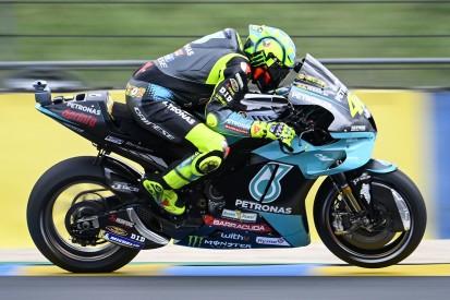 Lebenszeichen: Valentino Rossi fährt am Freitag in Le Mans in die Top 10