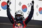 Vettel 'müthiş zaferi' kutluyor