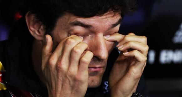 Webber son dört GP'de çatlak omuzla yarışmış