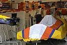 Aleshin Renault F1 aracını test