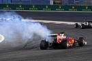 Vettel enjeksiyon sorunu nedeniyle yolda kalmış