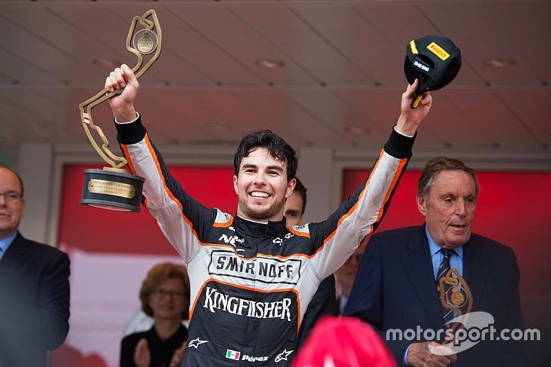 """بيريز يفوز بجائزة """"سائق اليوم"""" بعد المركز الثالث في موناكو"""