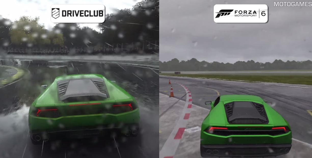 Forza Motorsport 6 Vs. DriveClub az esőben