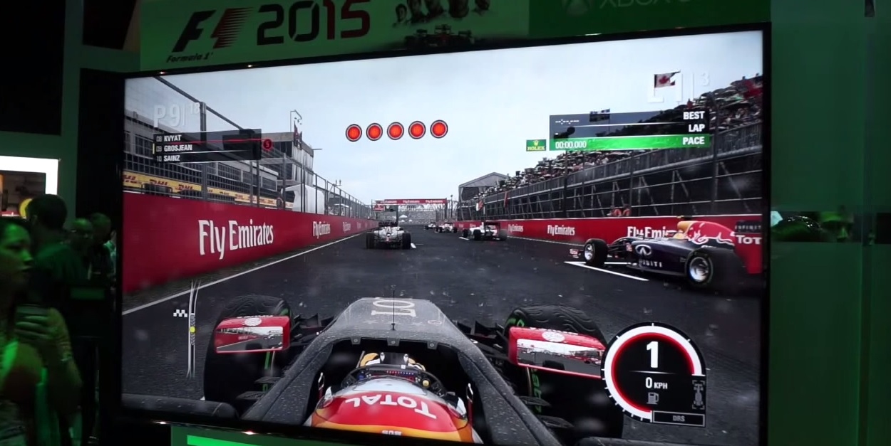 F1 2015: Új gameplay videó a játékról! Kanada, eső, Lotus