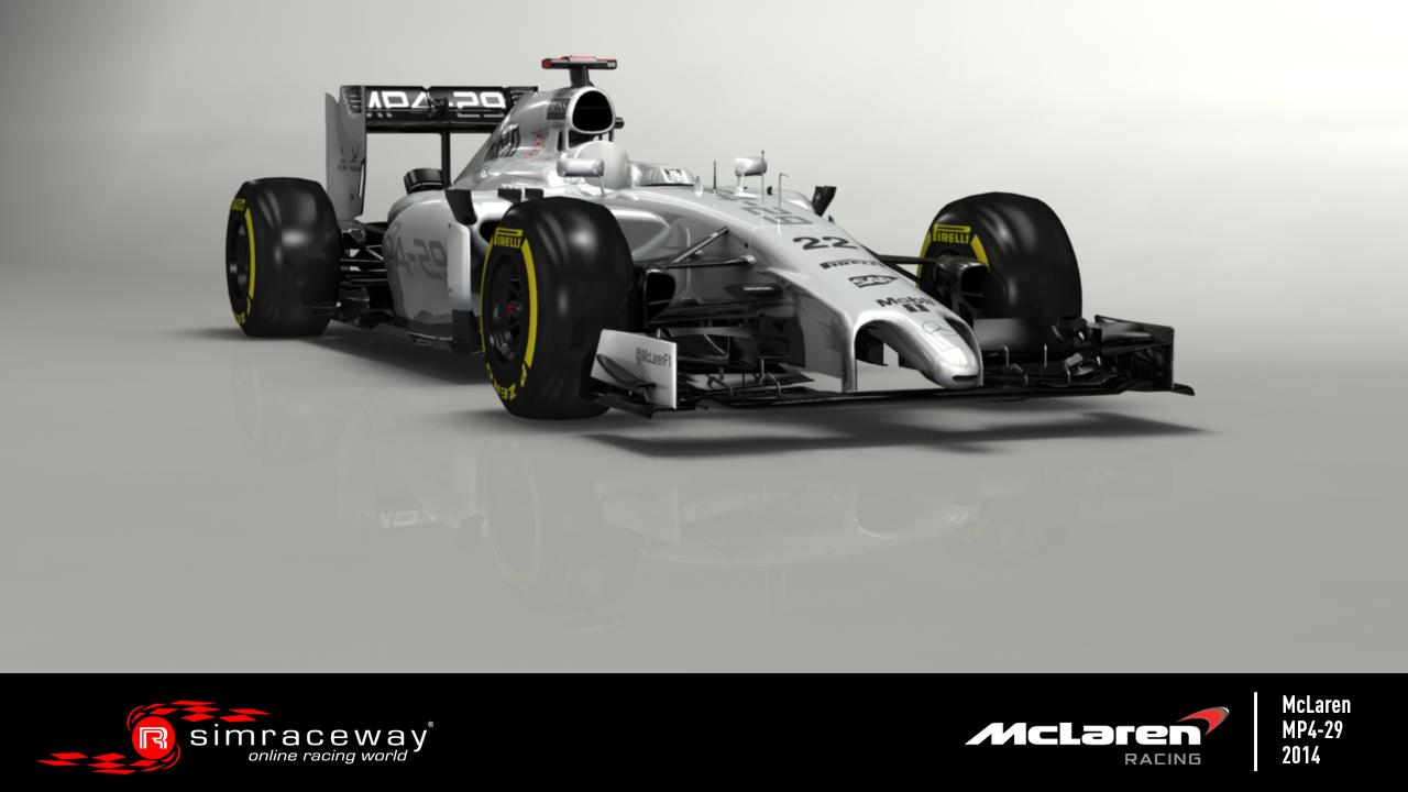 SimRaceway: Megérkezett a McLaren MP4-29 F1-es versenygép