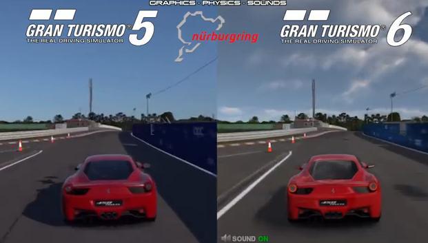Gran Turismo 5 Vs. Gran Turismo 6: Ferrari 458 Italia
