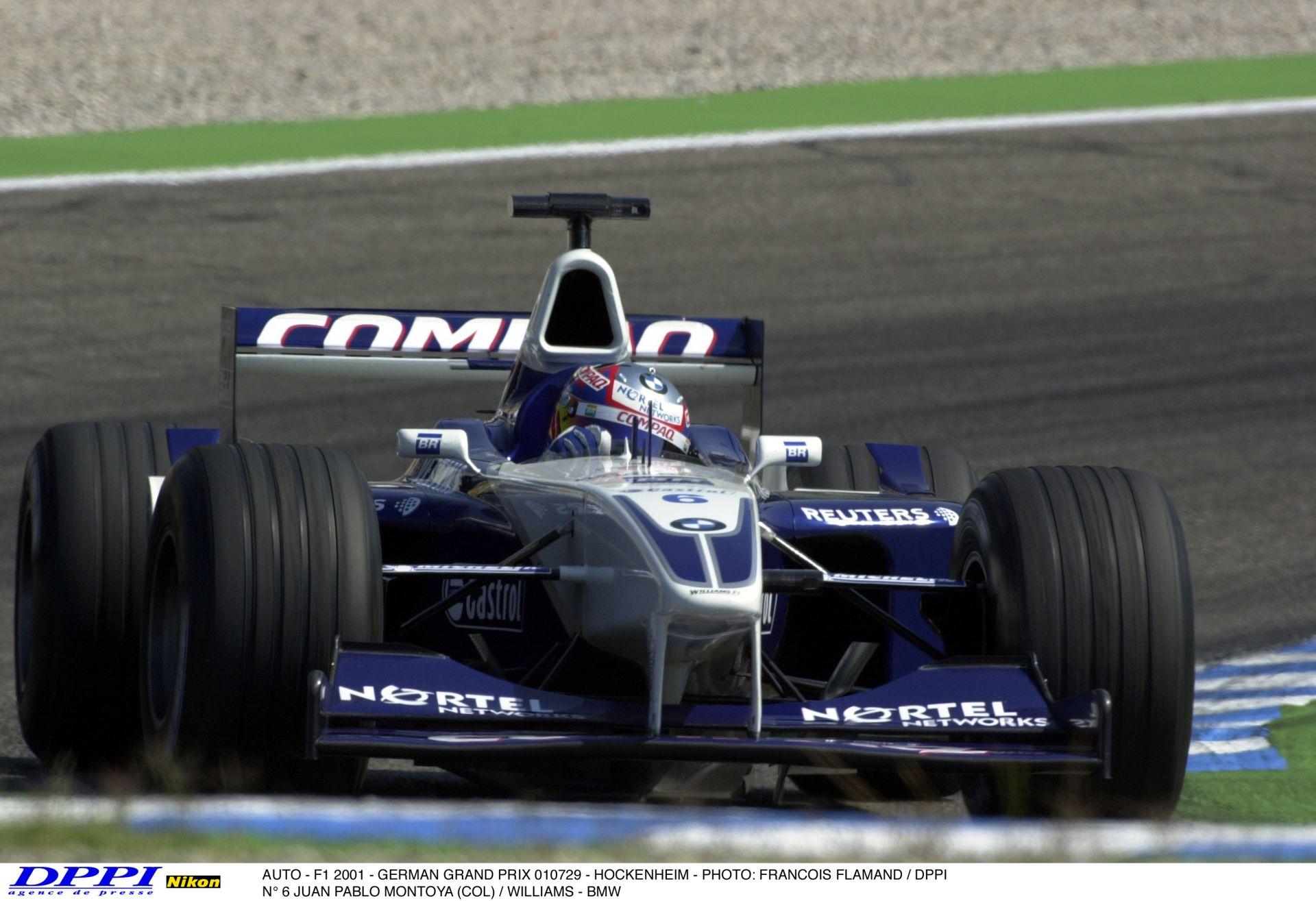 Figyelj, fülelj és élvezd: Montoya a 2001-es Német Nagydíjon