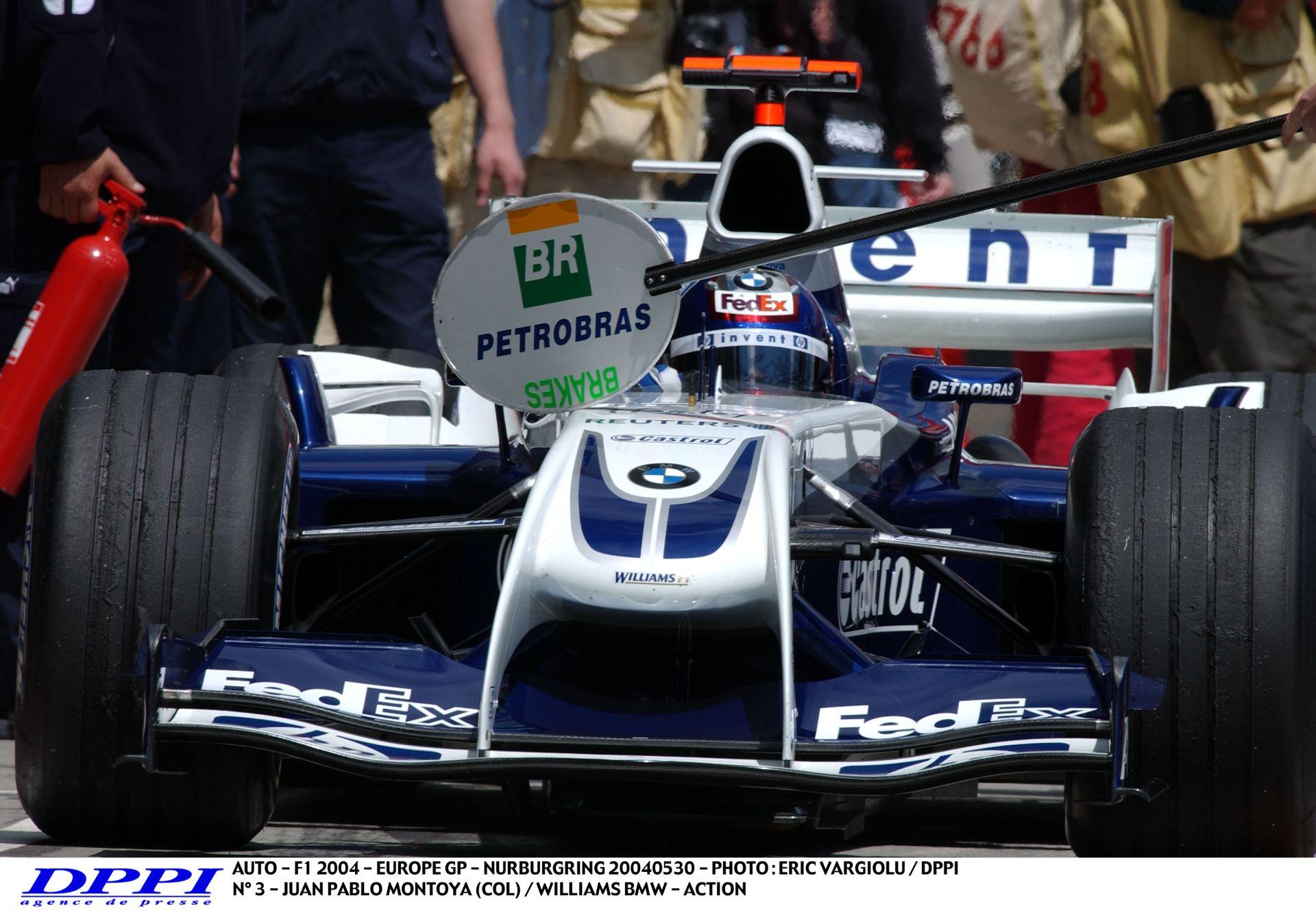 Montoya teljesen elborult: szó szerint brutálisat ment a Williams-BMW-vel