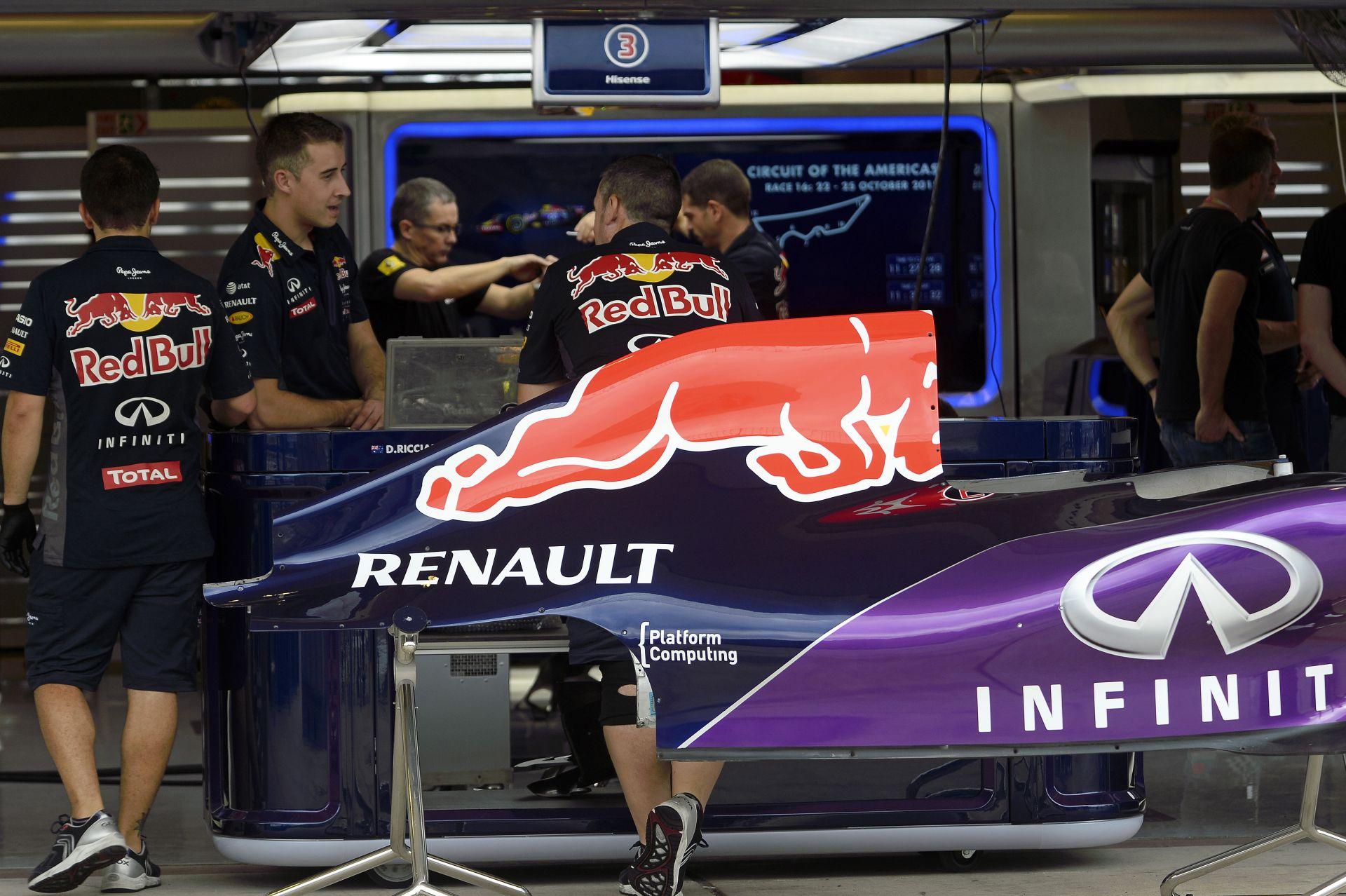 A Red Bull a pénteki edzésekre tuti nem építi be a Renault új motorjait Austinban!