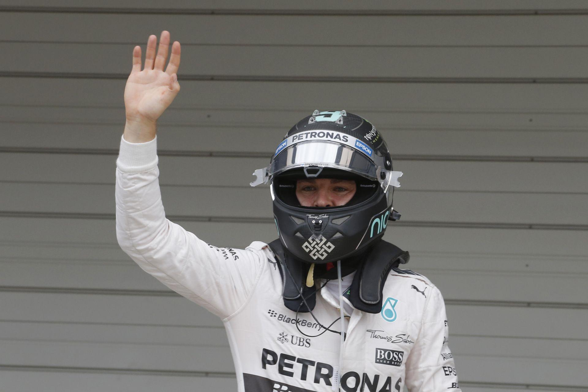 """Rosberg: """"Ma ez volt a maximum, Hamilton jobb volt…"""