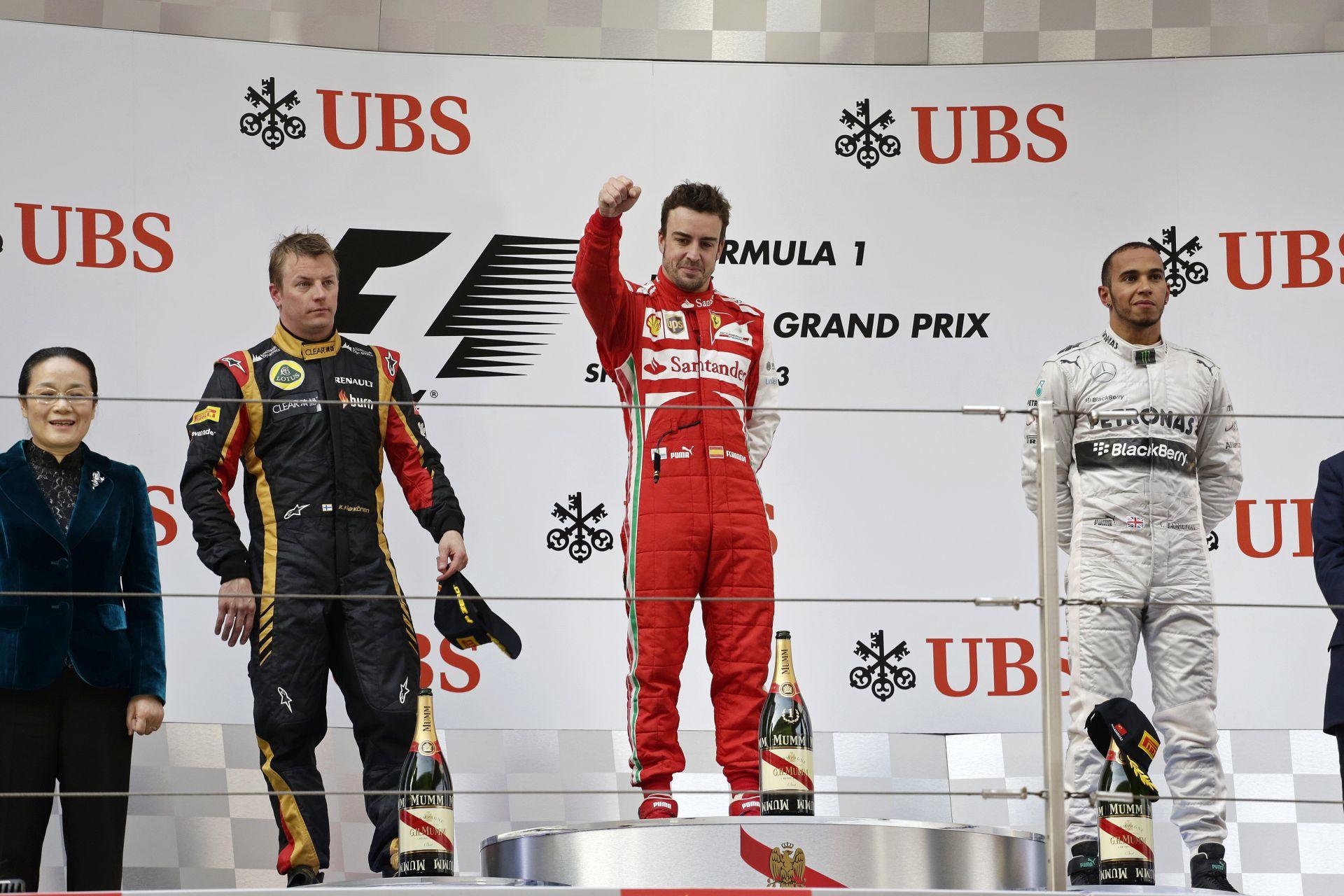 A legjobban fizetett Forma-1-es pilóták 2005 és 2015 között: Alonso, Räikkönen, Hamilton