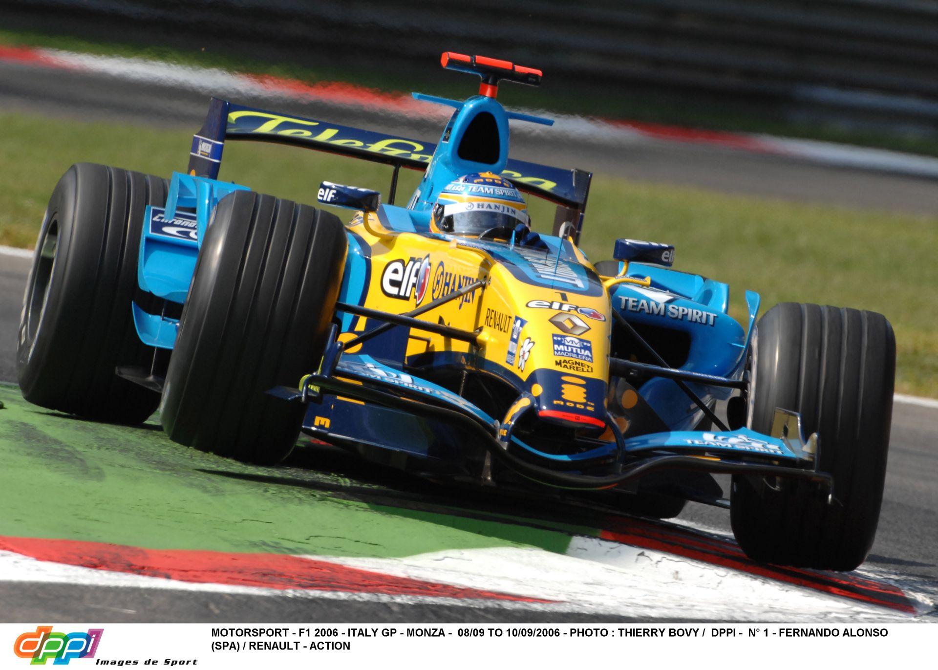 Alonso és ami a csövön kifér a Renault-ból: 2006, Monza!