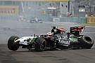 Sergio Pérez nagy bukása a Hungaroringen: Felborult a Force India! Videón a jelenet!