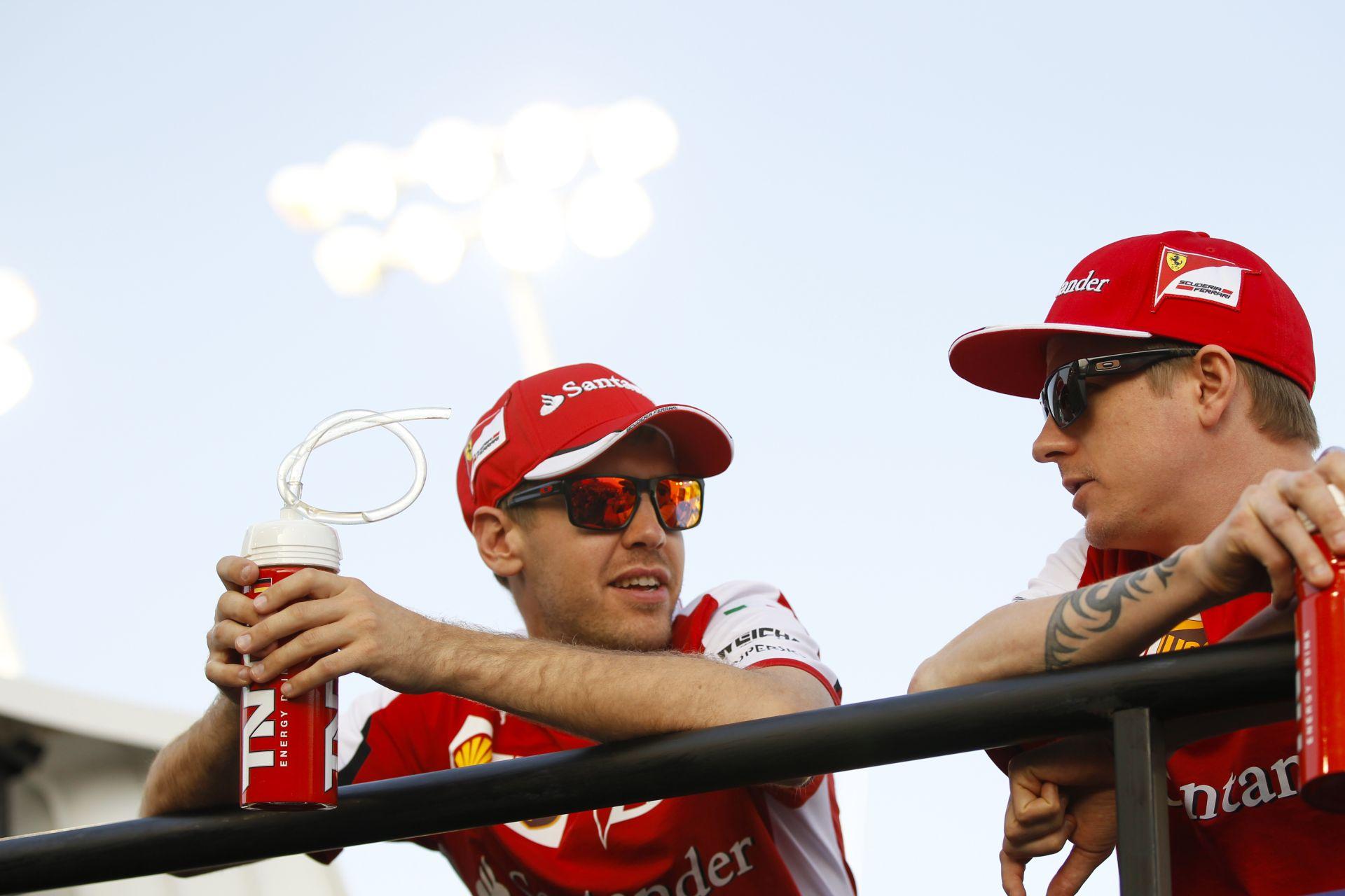 Vettel: Örülnék, ha Raikkönen a Ferrarival maradna, de erről nem én döntök