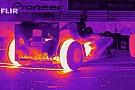 COOL: így éget gumit F1-es autó hőkamerán keresztül!