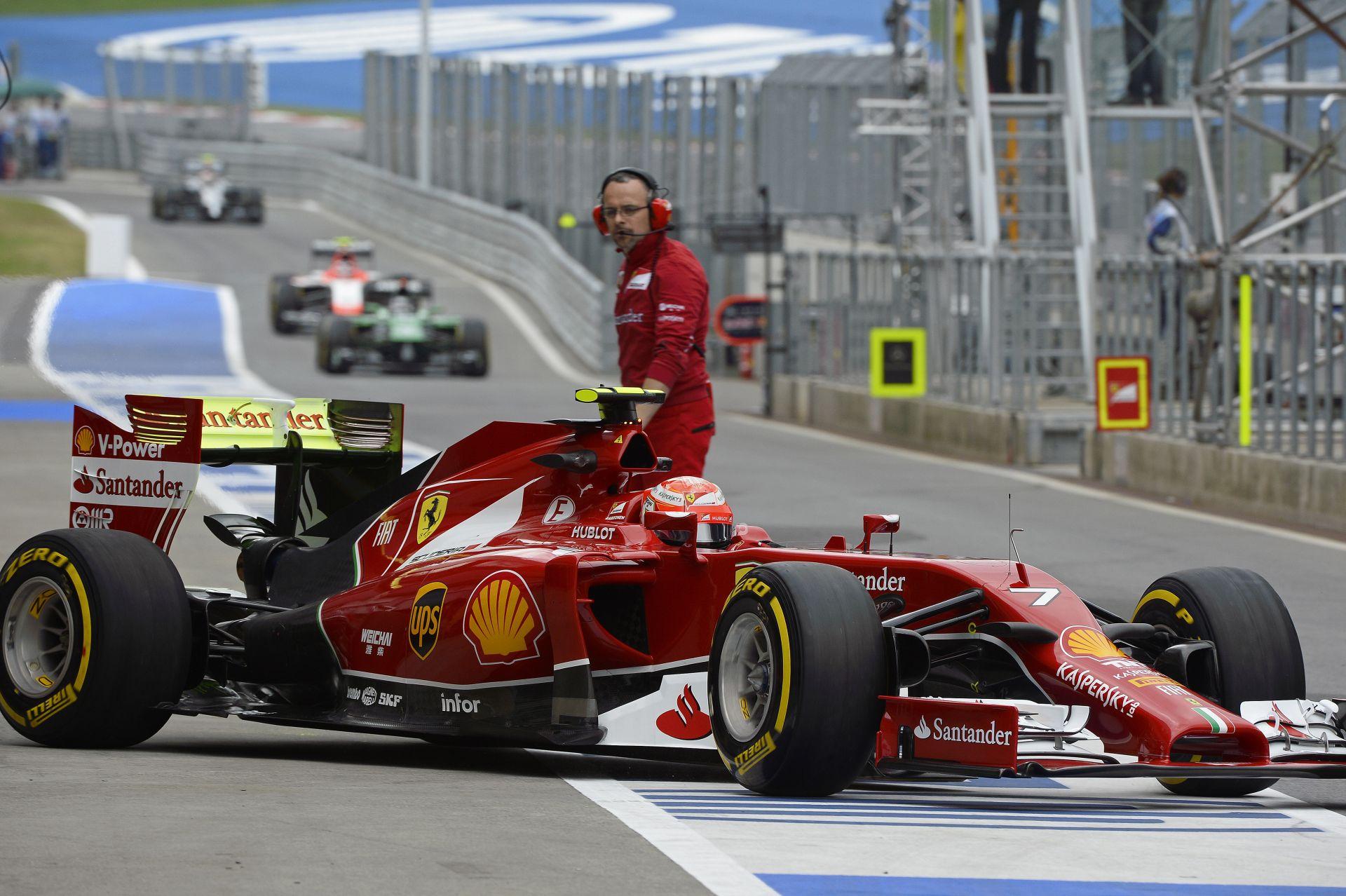 Raikkönen alatt elfogyott a Ferrari a végére