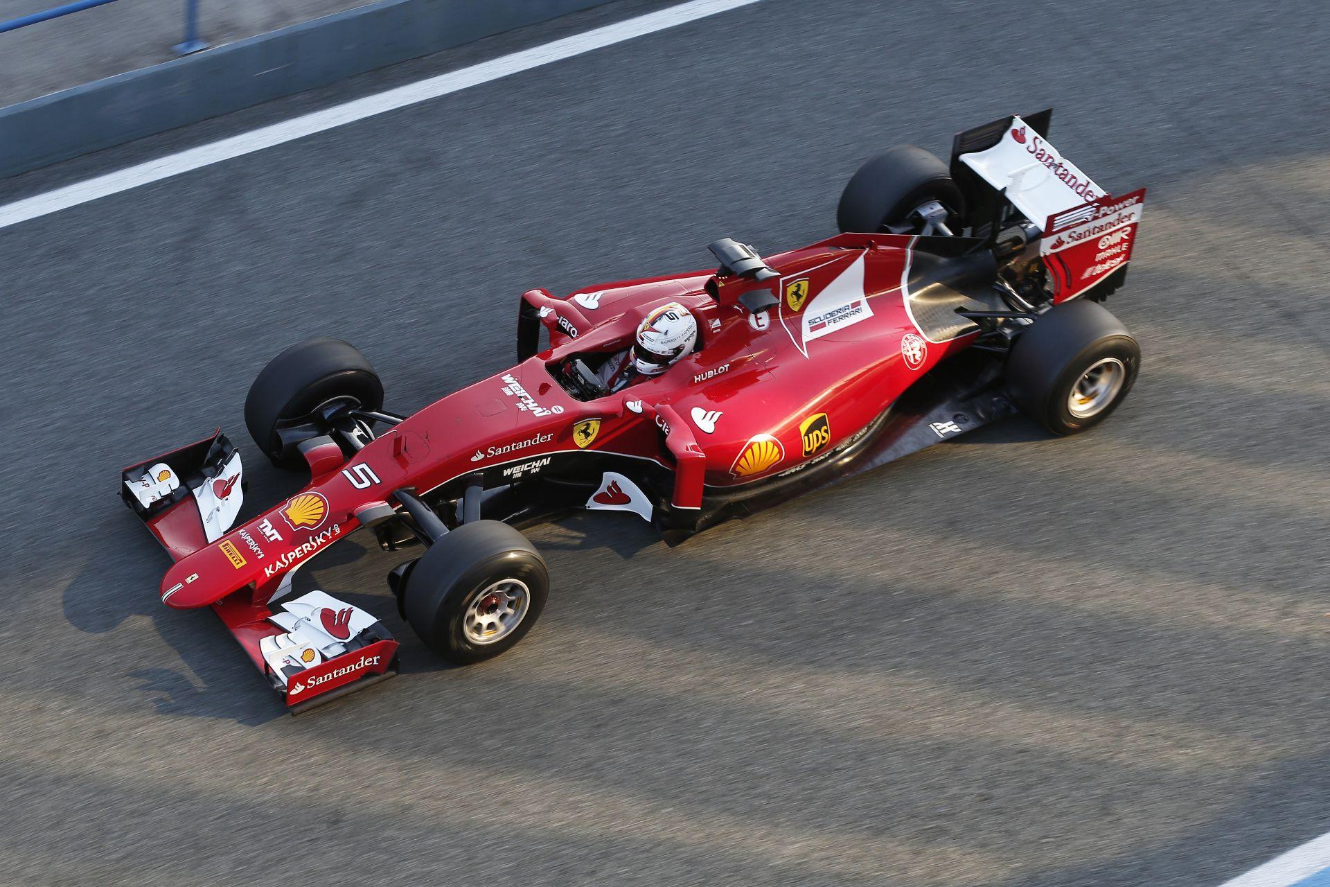 """Vettel """"űridővel"""" végzett az élen Jerezben a Ferrarival, újabb bukás a McLarennél!"""
