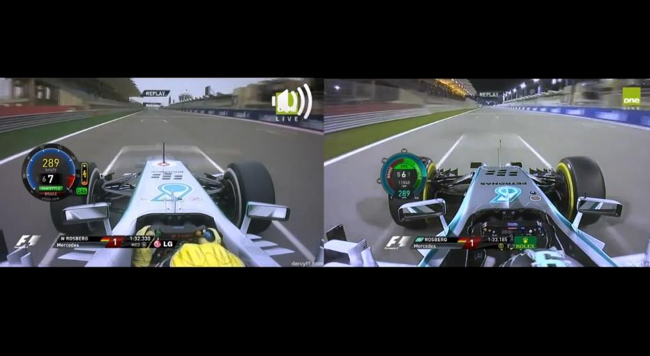 Rosberg 2013-as és 2014-es pole köre Bahreinből: Érezd, halld a különbséget!