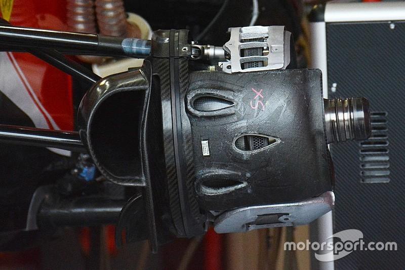 Крихітні технології: передні гальма Ferrari SF16-H
