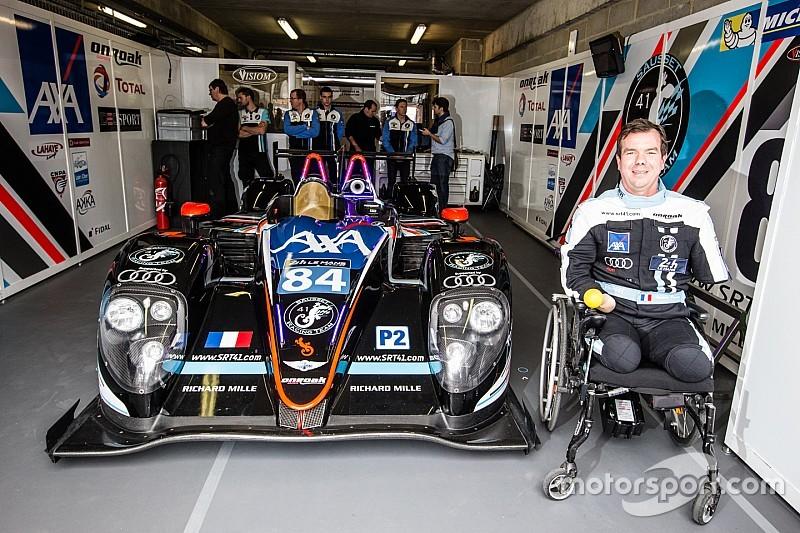 Ohne Gliedmaßen: Frederic Sausset fährt in Le Mans