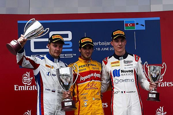 Giovinazzi venció en una caótica primera carrera en Bakú