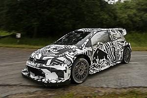 WRC News Volkswagen testet WRC-Auto für 2017 im Zebra-Design
