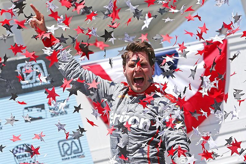 インディカー ロードアメリカ:パワーが連勝。琢磨はスピードリミッターの不具合に泣く