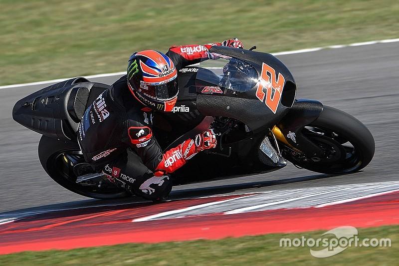 На тестах Aprilia MotoGP Лоус «одразу відчув себе невимушено»