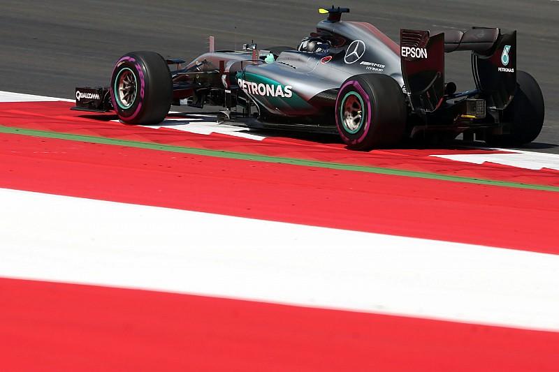 F1オーストリアGP FP1:ロズベルグがコースレコードで最速。縁石には要注意!