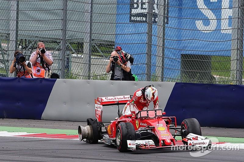 倍耐力表示维特尔爆胎由赛车碎片所致