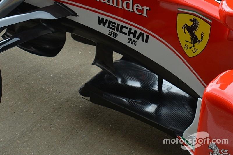 Ferrari: modifiche di micro aerodinamica sulla SF16-H