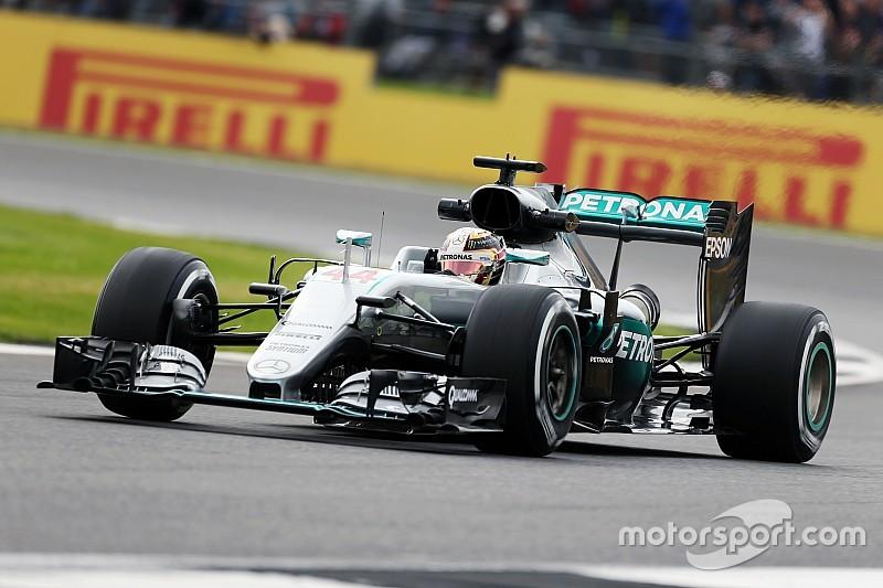 英国大奖赛FP2:罗斯伯格遭遇故障缺席二练,汉密尔顿再夺第一