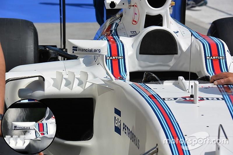 Tech update: Williams past spiegels aan voor meer downforce